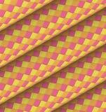 Diagonal orange yellow pink roll shape backdrop Stock Image