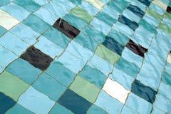 Diagonal of tiles in swimming pool Royalty Free Stock Image