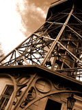 Diagonal tower. An old iron tower in Prague royalty free stock images