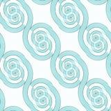 Diagonal turkosvit för sömlös spiral modell Royaltyfri Fotografi