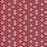Diagonal vermelha e branca listrada com patte de confecção de malhas da forma do diamante Imagem de Stock