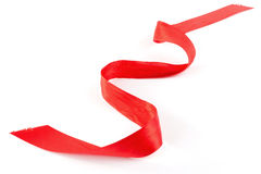 Diagonal vermelha faixa isolada Fotografia de Stock Royalty Free