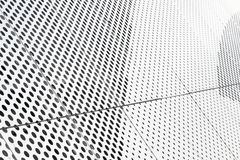 Free Diagonal View Of Metall Grilles And Round Holes In Metal Surface, Perforated Panels Close-up Royalty Free Stock Image - 160668296