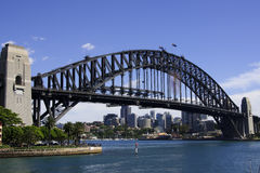 Diagonal view on Sydney bridge. Stock Images