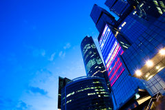 Diagonal view to business center royalty free stock image