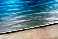 Diagonal vivid motion blur pier abstraction Stock Photos