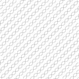Diagonal wavy lines seamless pattern. Thin curved waves, chains. Stock Photos