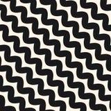 Diagonal wavy lines seamless pattern. Vector zig zag texture. Stock Image