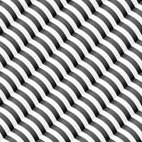 Diagonal wavy stripped seamless pattern. Stock Photo