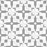 Diagonal white and gray wavy squares Royalty Free Stock Photos