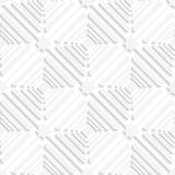 Diagonal white offset squares pattern Royalty Free Stock Image