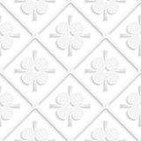Diagonal white square net and pointy shapes pattern Royalty Free Stock Photography