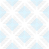 Diagonal white wavy lines with blue pattern Royalty Free Stock Photos