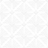 Diagonal white wavy lines and pointy squares pattern Stock Images