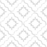 Diagonal white wavy squares pattern Stock Photo
