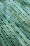 Diagonal Wood Deck Royalty Free Stock Photos