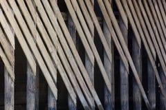 Diagonal wood plankamodell Arkivfoto