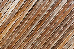 Diagonal wood texture gate Stock Photos