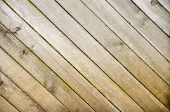 Diagonal wooden panels Royalty Free Stock Photo