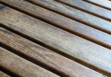Diagonal Wooden Table (1). Diagonally Slatted Wooden Table with Grain Royalty Free Stock Images