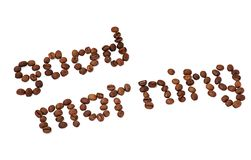Diagonal word Good morning made of coffee beans Stock Photo