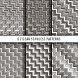 Diagonal zigzag line seamless pinstripe vector backgrounds Royalty Free Stock Image