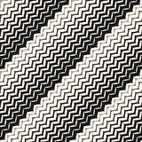 Diagonal zigzag lines seamless pattern. Stock Photos