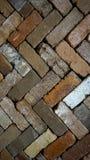 Diagonal zigzag pattern brick vertical background Stock Photography