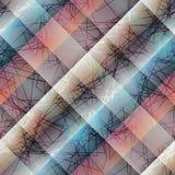 Diagonalabstrakt begreppmodell med linjer Arkivbild
