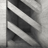 Diagonalbetongstrålar interior 3d Royaltyfri Fotografi
