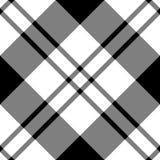 Diagonale blanche noire Photos libres de droits