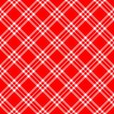 Diagonale blanche rouge de plaid Images libres de droits