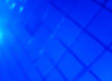Diagonale blauwe net bokeh achtergrond Stock Afbeelding