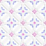 Diagonale bloemen gelaagd met blauw en roze royalty-vrije illustratie