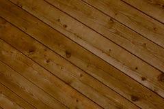 Diagonale braune Planken Stockfoto
