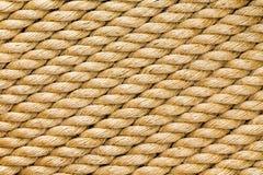 Diagonale bundels van een nieuwe dikke sisalkabel royalty-vrije stock afbeeldingen