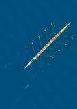 Diagonale della squadra di rematura Fotografie Stock Libere da Diritti