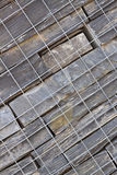 Diagonale di pietra del muro di sostegno Fotografie Stock