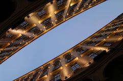 Diagonale Gebäudeperspektive Stockfotografie