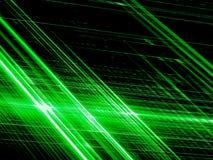 Diagonale gloeiende strepen - abstract digitaal geproduceerd beeld Stock Afbeeldingen
