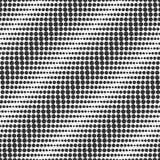 Diagonale golven Naadloos vectorpatroon Rooster halftone imitati Stock Afbeeldingen