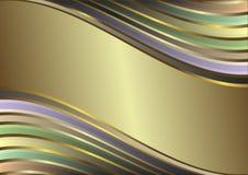 Diagonale golvende pastelkleurstrepen Stock Afbeelding