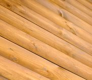 Diagonale hölzerne Planken als Hintergrund Lizenzfreies Stockbild