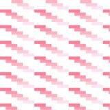 Diagonale hellrosa Ziegelsteine auf wei?em Hintergrund stock abbildung