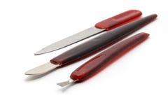 Diagonale hulpmiddelen voor samenstelling en manicure Royalty-vrije Stock Afbeeldingen