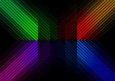 Diagonale kleurenbars Stock Afbeeldingen
