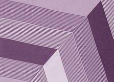 Diagonale Linien und Winkel, Purpur und Weiß stockfotografie