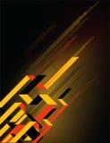 Diagonale oranje en gele lijnen Royalty-vrije Stock Foto's