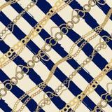 Diagonale plaid in zeevaartstijl van de stroken en Royalty-vrije Stock Fotografie