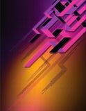 Diagonale purpere lijnen op donkere achtergrond Stock Afbeelding